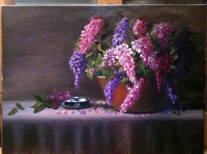 Lilacs 16x20 Oil on Canvas for sale Giclee available